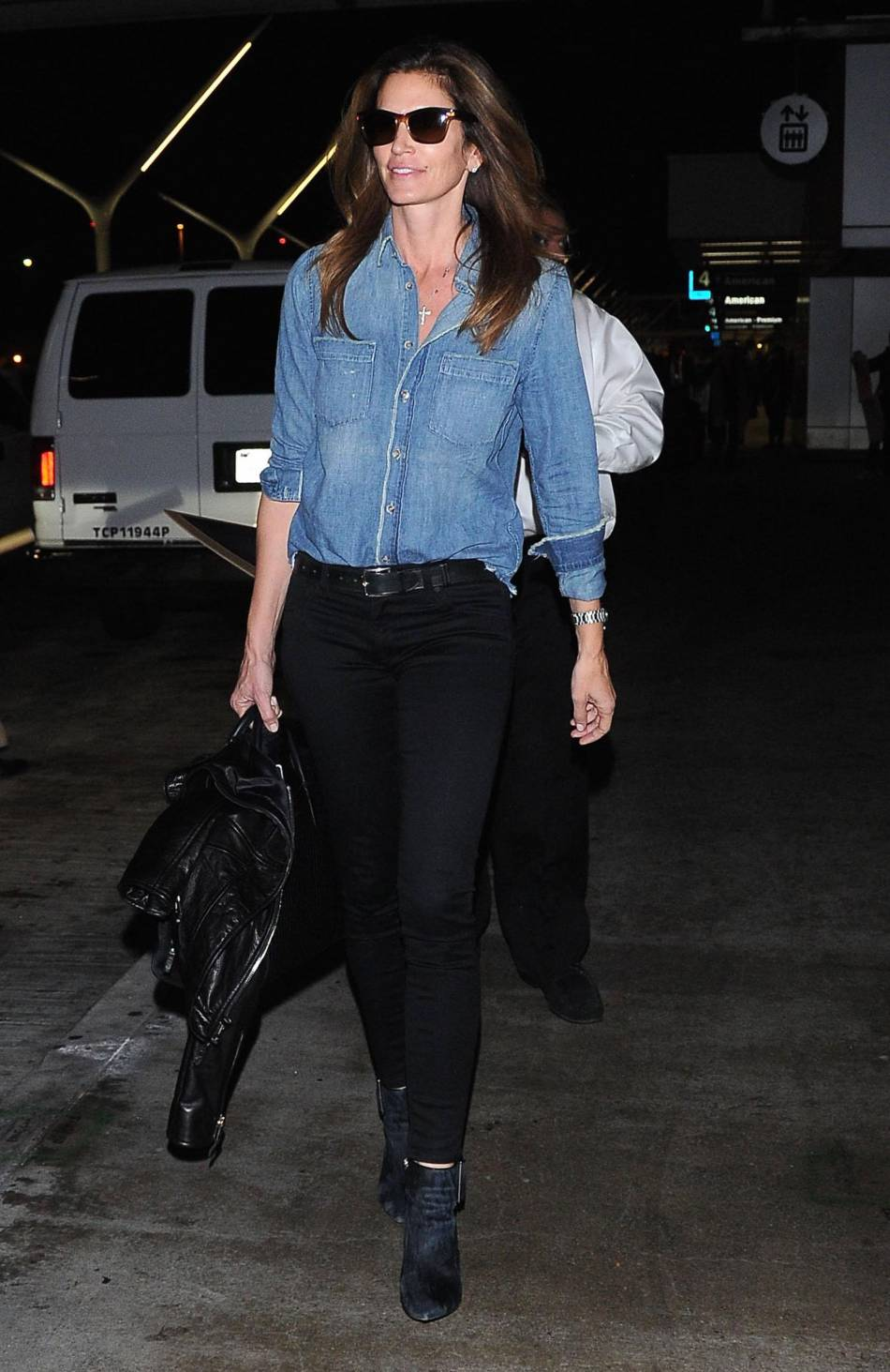 Cindy Crawford : chic sans chichis. On adore !