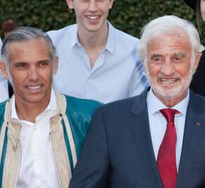 Jean-Paul Belmondo et son fils, Paul Belmondo, en avril 2015.