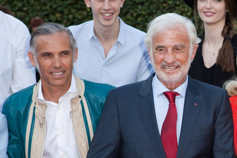 Jean-Paul Belmondo et son fils, Paul Belmondo, en avril 2015.