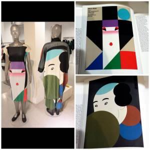 A droite, les robes d'Issey LMiyake et à gauche, les dessins d'Ikko Tanaka.