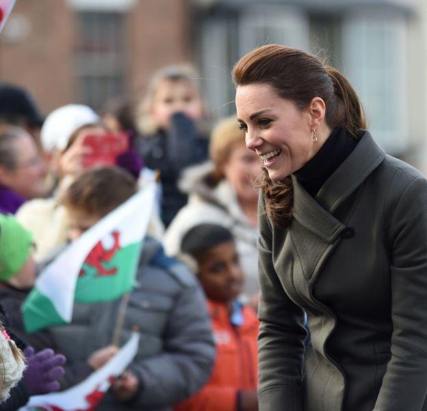 Kate Middleton en visite officielle à Caernarfon le 20 novembre 2015.