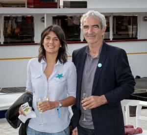 Estelle Denis et Raymond Domenech en 2014.
