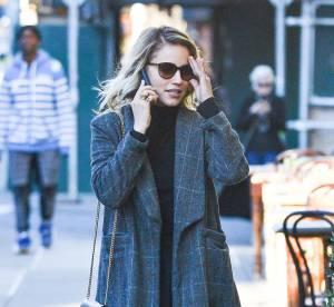 Dianna Agron : manteau à carreaux et bottines lacées, le look chic à copier !