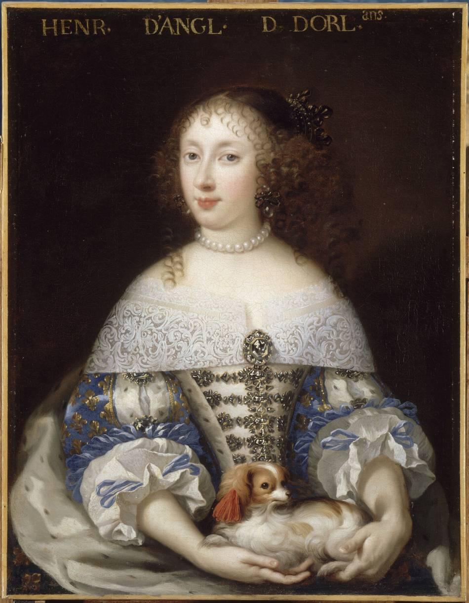 Henriette d'Angleterre était coquette et séductrice et on retrouve parfaitement sa personnalité dans son sac.