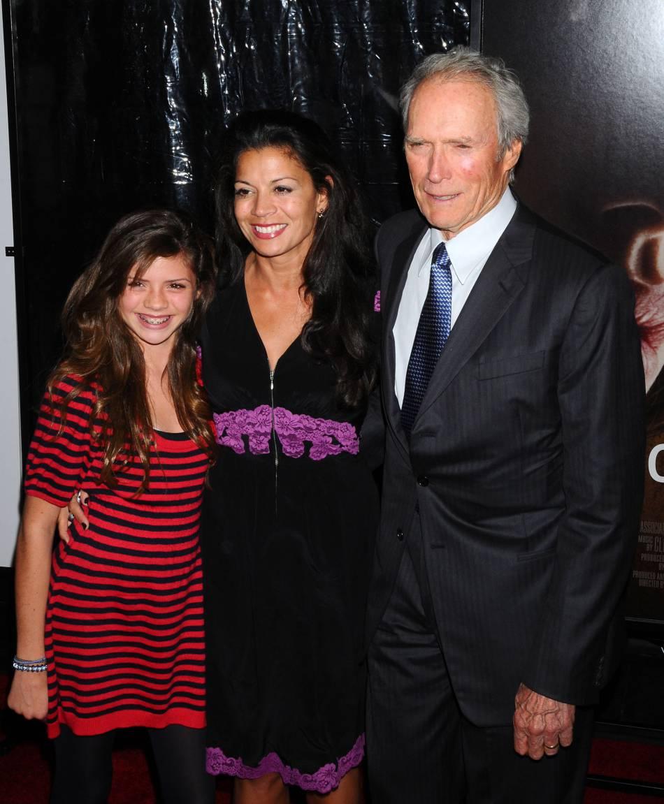 Clint Eastwood, Dina et leur fille Morgan en octobre 2008.