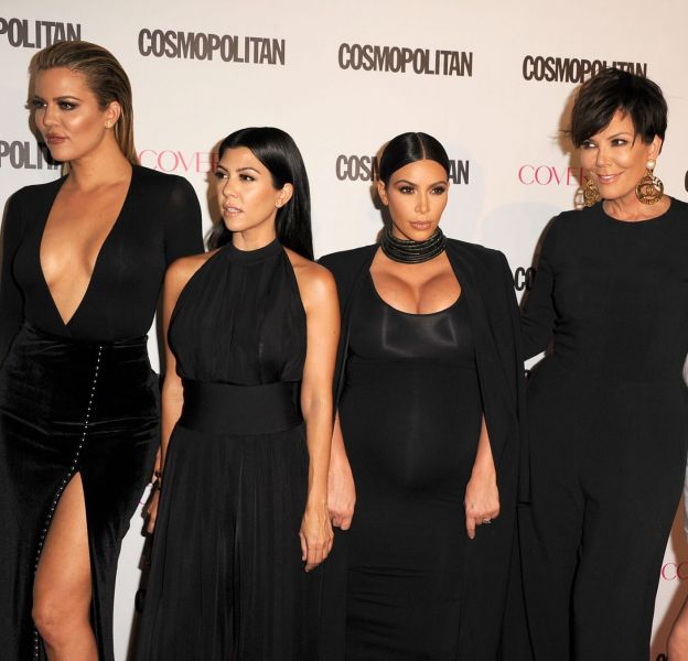 Le clan Kardashian fête Thanksgiving le 26 novembre 2015.