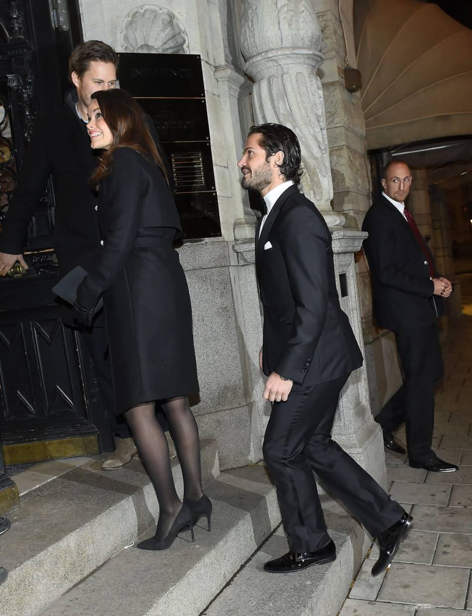 Le prince Carl Philip de Suède et la princesse Sofia au Nio Rum à Stockholm.