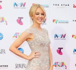Kylie Minogue : ravissante quadra dans une robe digne d'une mariée !