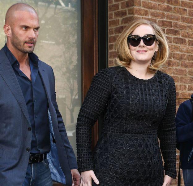 Adele : son garde du corps (à gauche), Peter Van Der Veen, fait le buzz sur Twitter.