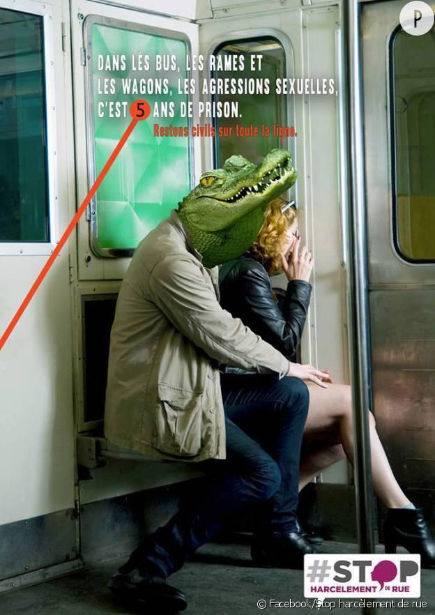 """L'association française """"Stop Harcèlement de Rue"""" pointe du doigt les prédateurs des transports en commun."""