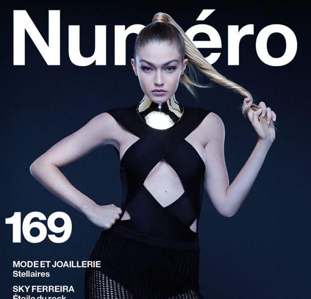 Gigi Hadid fait la couverture de l'édition décembre/janvier 2016 du magazine Numéro.