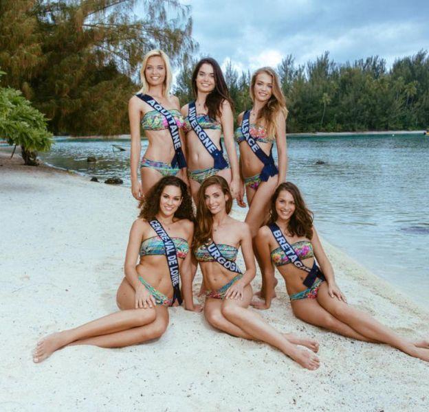 Les miss en maillot de bain à Tahiti !