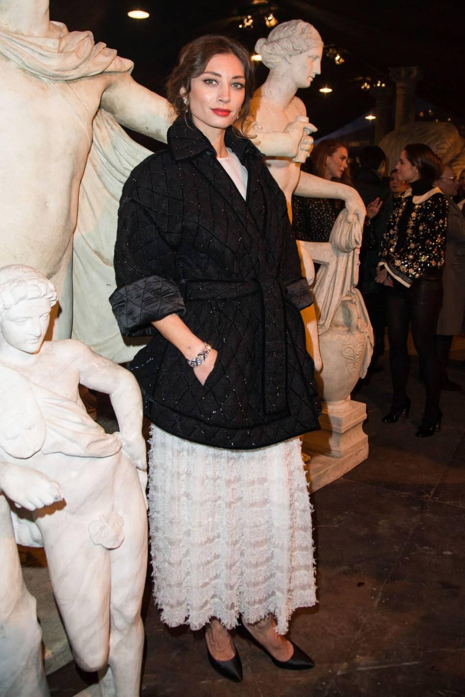 Margareth Made au défilé Chanel Métiers d'Arts Paris à Rome 2015-2016 le 1er décembre 2015.