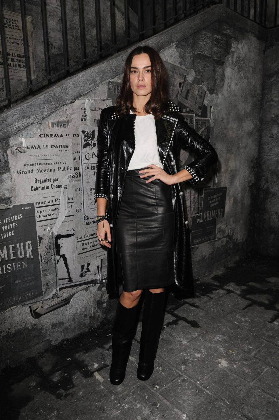 Kasia Smutniak au défilé Chanel Métiers d'Arts Paris à Rome 2015-2016 le 1er décembre 2015.