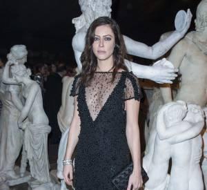 Anna Mouglalis au défilé Chanel Métiers d'Arts Paris à Rome 2015-2016 le 1er décembre 2015.