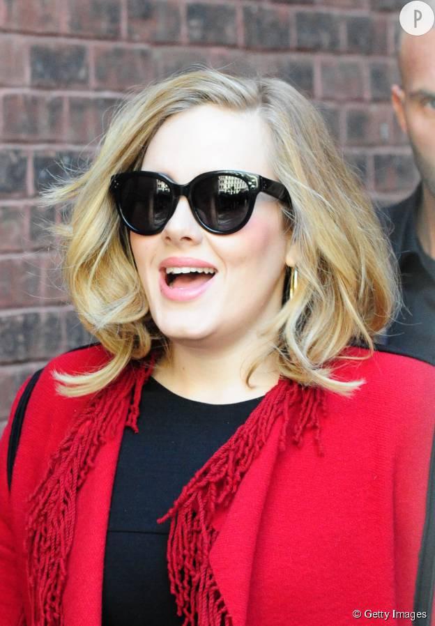 Adele, rayonnante en novembre 2015.