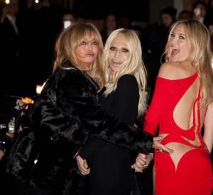 Donatella Versace et ses copines stars toujours prêtes à prendre la pose.
