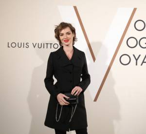 "Louise Bourgoin au vernissage de l'exposition ""Volez, voguez, voyagez - Louis vuitton"" au Grand Palais le 3 décembre 2015 à Paris."