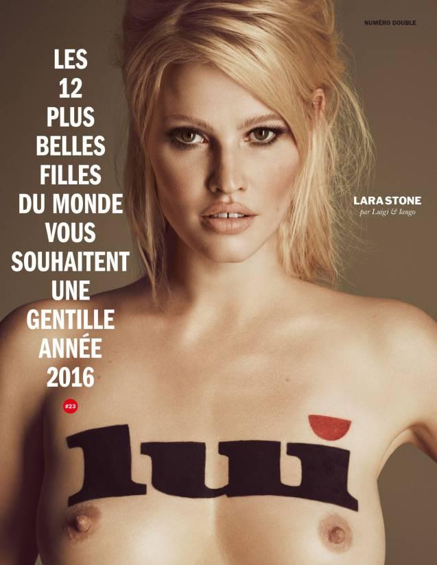 La cover de Lara Stone.