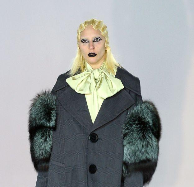 Lady Gaga, mannequin d'un jour pour le défilé Marc Jacobs Automne-Hiver 2016/2017.