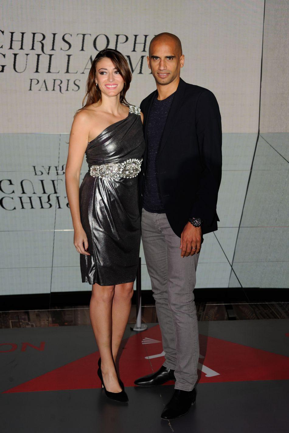 Rachel Legrain-Trapani et son mari, le footballeur Etienne Capoue, en septembre dernier. C'est à lui qu'elle consacre son temps depuis la fin de son règne.