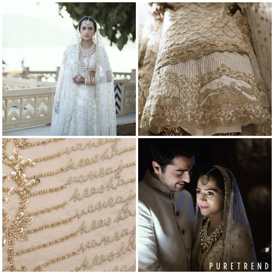 Robe de mariee style indienne