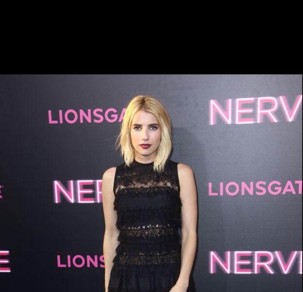 """Emma Roberts était à l'avant-première du film """"Nerve"""", hier à New York."""