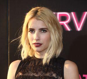 L'actrice a fait un sans faute avec son carré blond platine et sa bouche dark.
