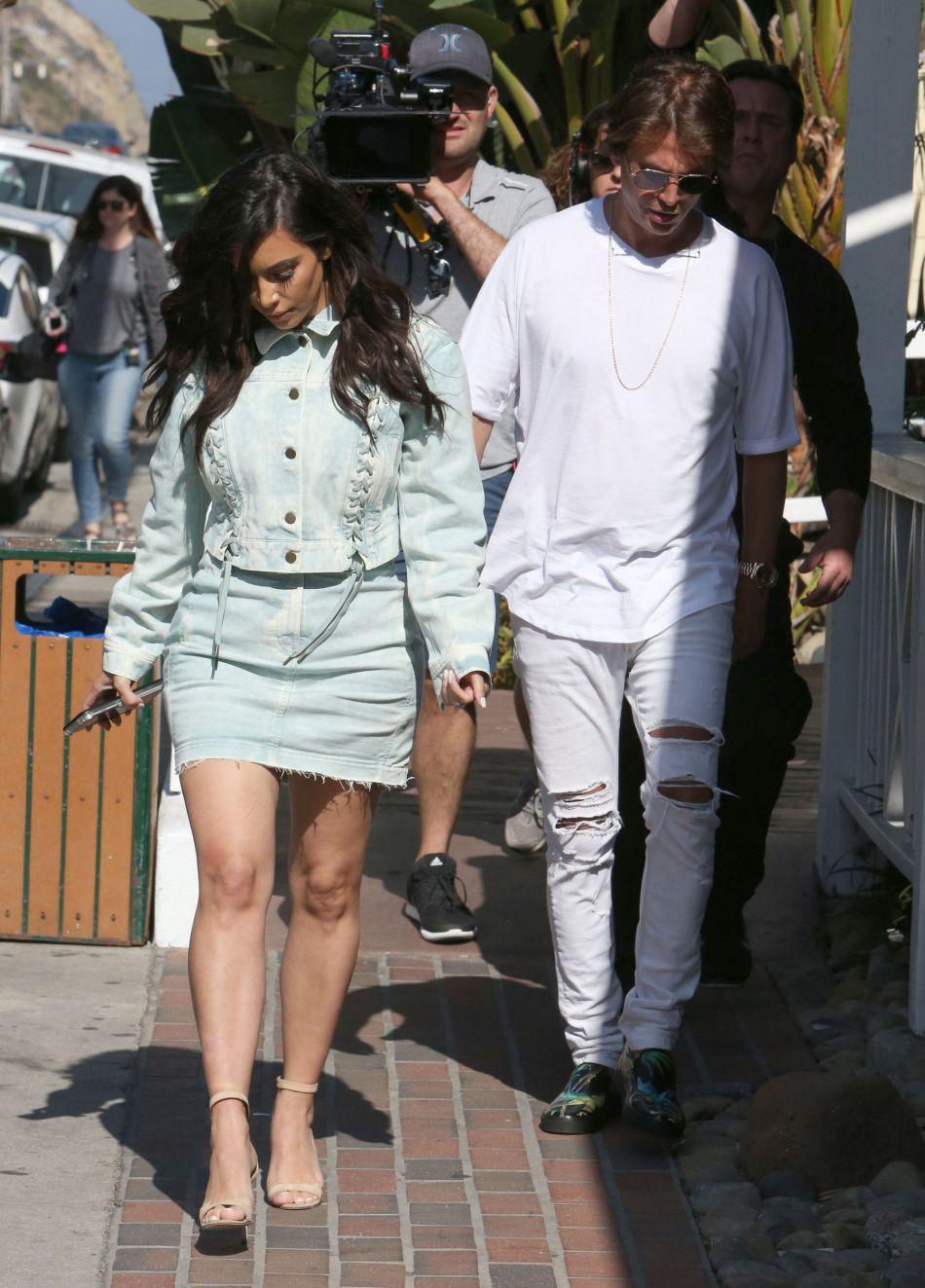 Kim Kardashian et Jonathan Cheban.
