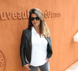 Karine Ferri à Roland-Garros à Paris, le 27 mai 2016.