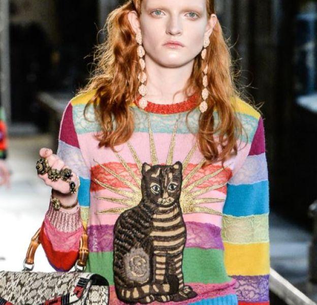 Chez Gucci, le chat se fait icône.