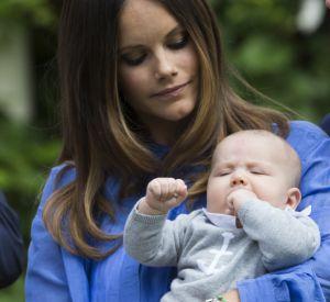 La princesse Sofia et le dernier né de la famille royale de Suède, le ptit prince Alexander.