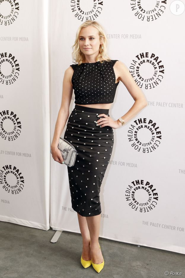 Diane Kruger porte le look pin-up à merveile !