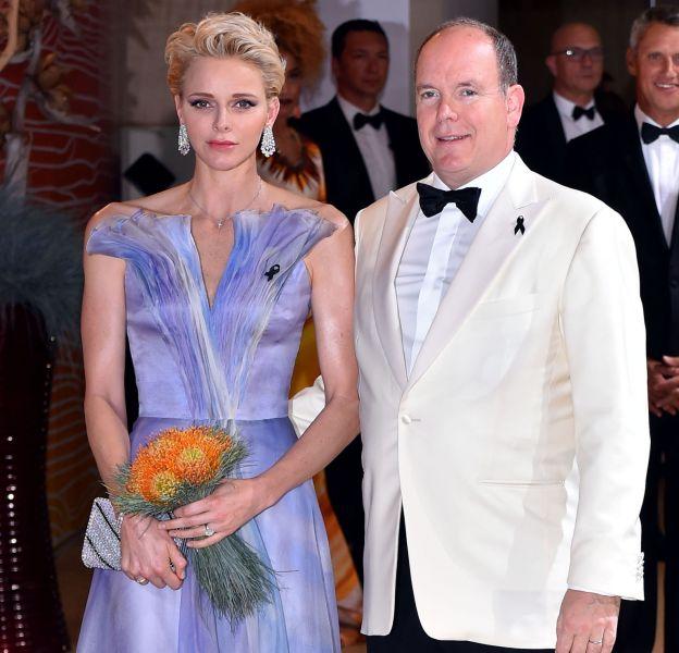 La princesse Charlène de Monaco et son époux, le prince Albert II de Monaco