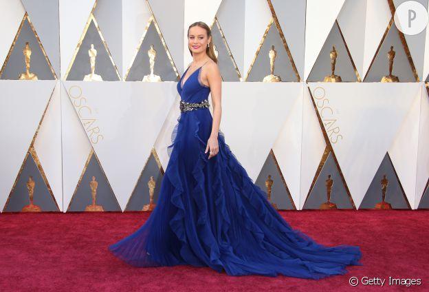 Dans sa robe bleue Gucci, Brie Larson dégageait quelque chose de sublime pour les Oscars 2016.