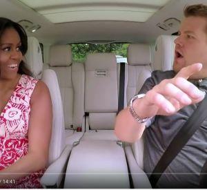 """Michelle Obama participe au """"Carpool Karaoke"""" de James Corden."""