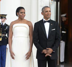 Michelle Obama, resplendissante lors d'un diner d'Etat à la Maison-Blanche