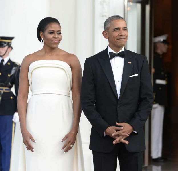 Barack et Michelle Obama recevait le président de Singapour et sa femme hier à la Maison Blanche.