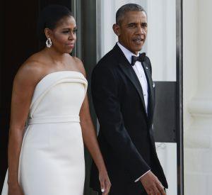 La première dame a opté pour une robe du créateur new-yorkais Brandon Maxwell.