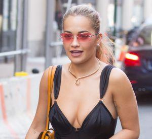 Rita Ora : décolleté XL dans les rues de New York