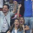 Et quand elle n'en pratique pas, elle le regarde ! Ici, elle était accompagnée de Camille Cerf au match d'ouverture de l'Euro 2016.