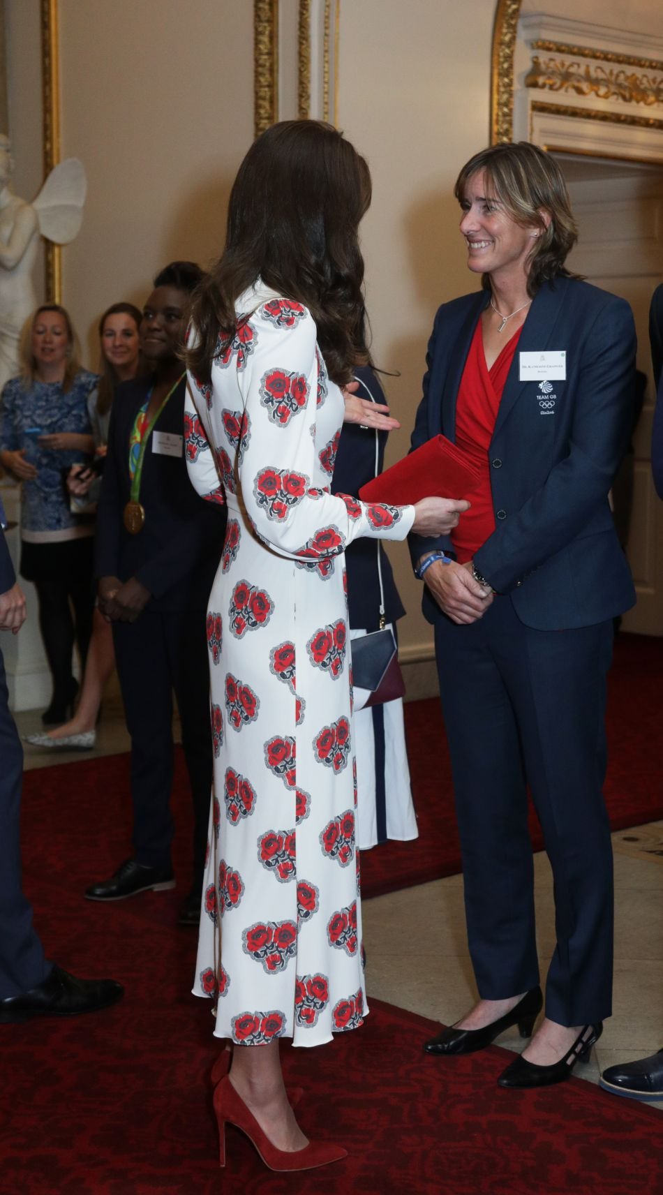 La duchesse affiche une silhouette ultra fine.
