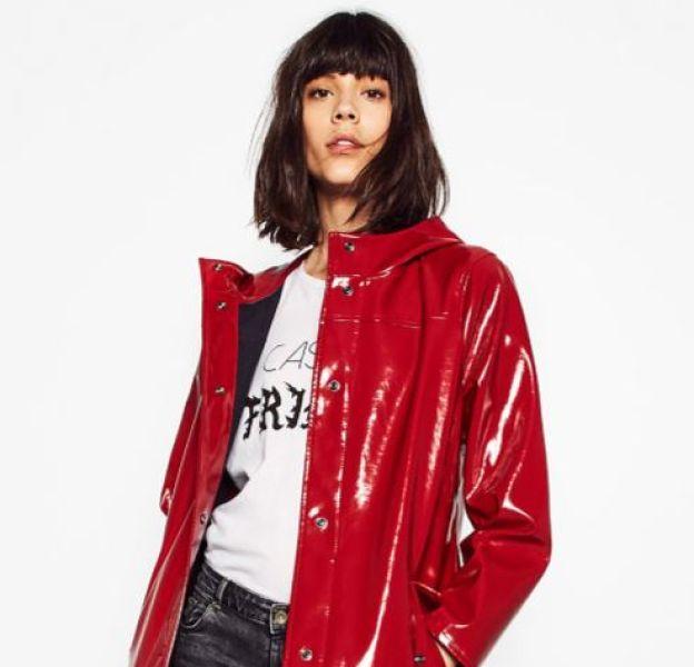 Veste rouge, Zara, 59,95€.