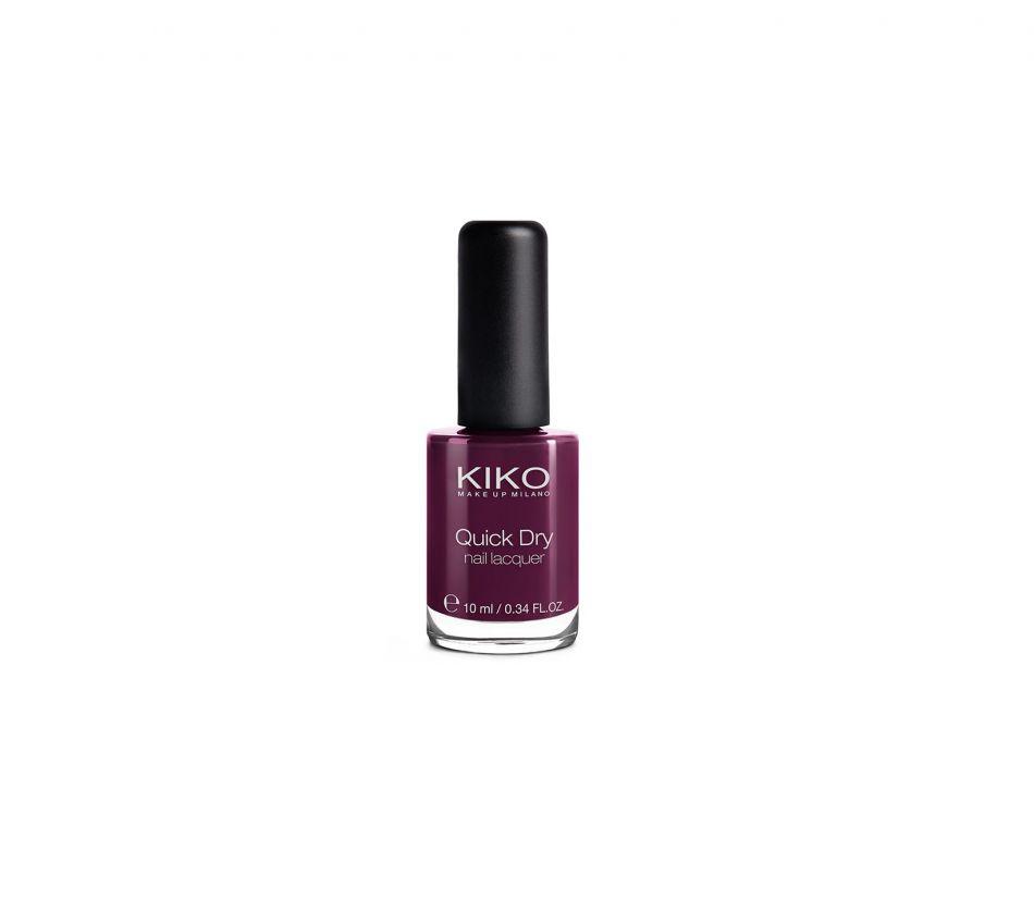 Kiko Quick Dry nail lacquer Dahlia Purple, 2,90€.