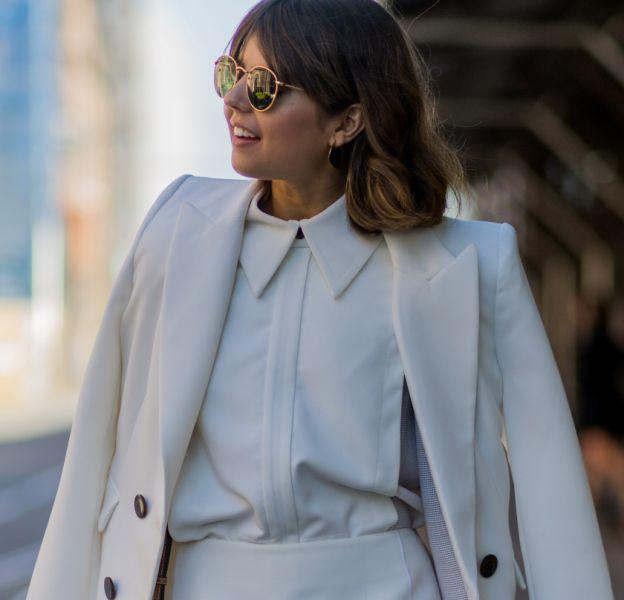 Le blanc en blazer chic pour l'hiver.