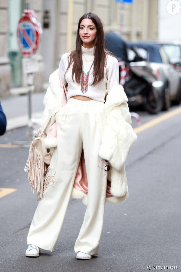 Le total look blanc est très tendance toute l'année.