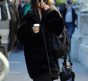Rihanna : dreadlocks et fausse fourrure à New York
