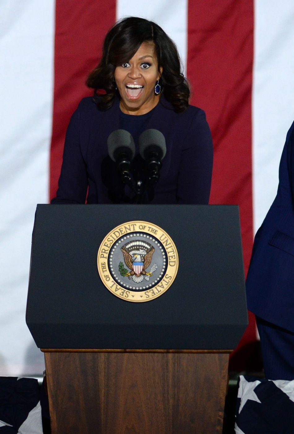 Michelle Obama prononce son dernier discours de Première dame des Etats-Unis.