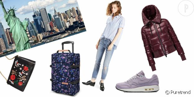 La valise idéale pour partir en vacances à New York.