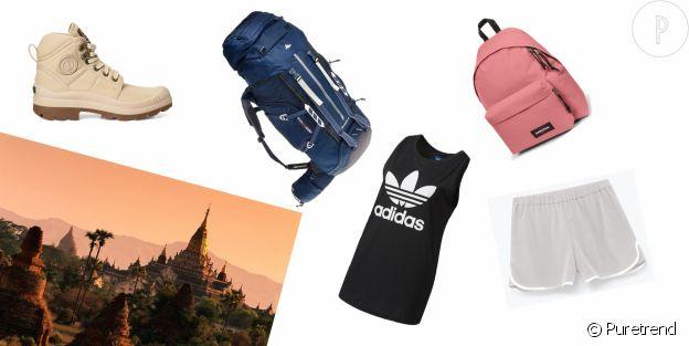 La valise idéale d'un voyage en Birmanie.